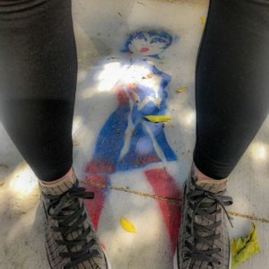 Erica says super heros wear Converse. I say they wear tights.